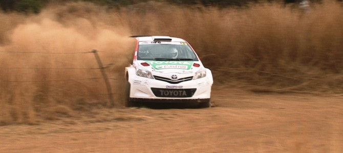 Weijs rolls out of Imperial Toyota Rally