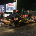 Lucky escape for 14-year-old after gate tears race car apart