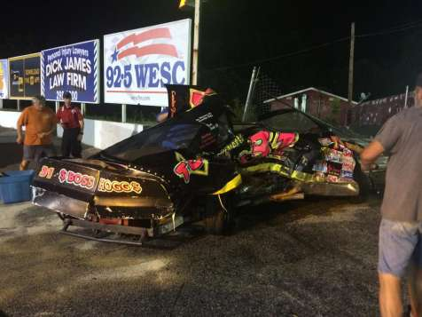 Lucky Escape For 14 Year Old After Gate Tears Race Car