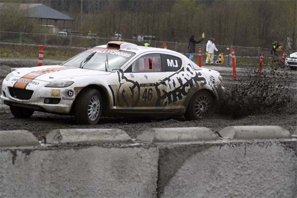 A 2011 RX car at the finish line