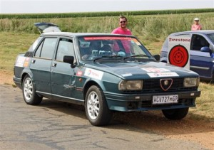 Jerry Paice and Bonita in the 1984 Alfa Romeo with which they won the 2011 championship