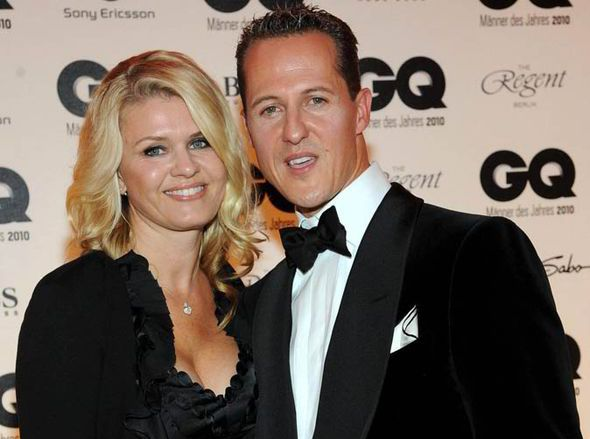 Schumacher and wife Corinna