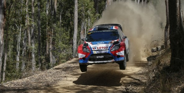 Meeke back in podium place