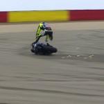 Rossi hospitalised after MotoGP crash