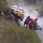 Spectators cheat death at rally