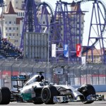 Lewis Hamilton claims pole position for F1's inaugural Russian GP