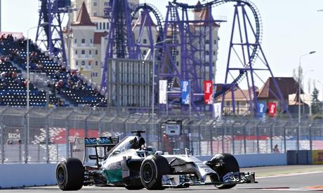 Lewis Hamilton Sochi Autodrom