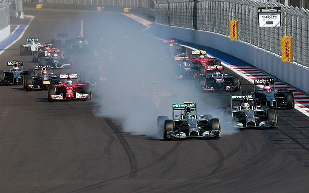 Russian Grand Prix Rosberg locks up