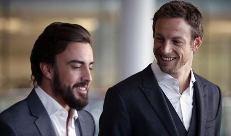 Fernando Alonso and Jenson Button