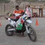 Namibian biker takes part in Africa Eco rally