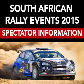 SOUTH AFRICAN RALLY EVENTS 2015 SPECTATOR INFO