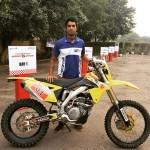 CS Santosh rides Suzuki RMX 450 for Desert Storm 2015