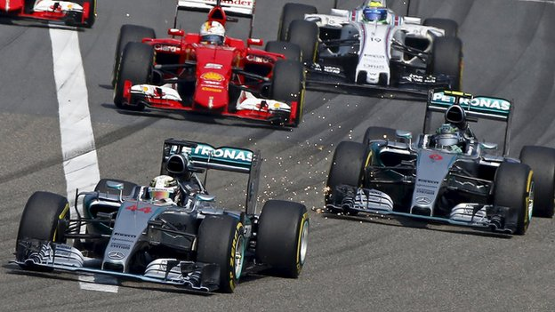 Hamilton wins Chinese GP. Photo: Reuters