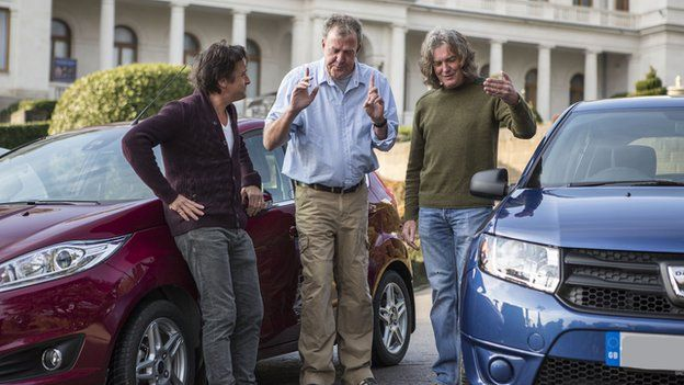 top gear s jeremy clarkson richard hammond and james may making show for amazon rallystar. Black Bedroom Furniture Sets. Home Design Ideas