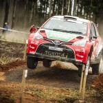 Eventful first day on Volkswagen Rally