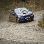 Higgins takes win in McRae liveried Subaru