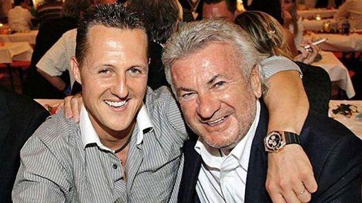 Michael Schumacher and Willie Weber