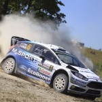 Elfyn Evans takes to the Ford Fiesta R5