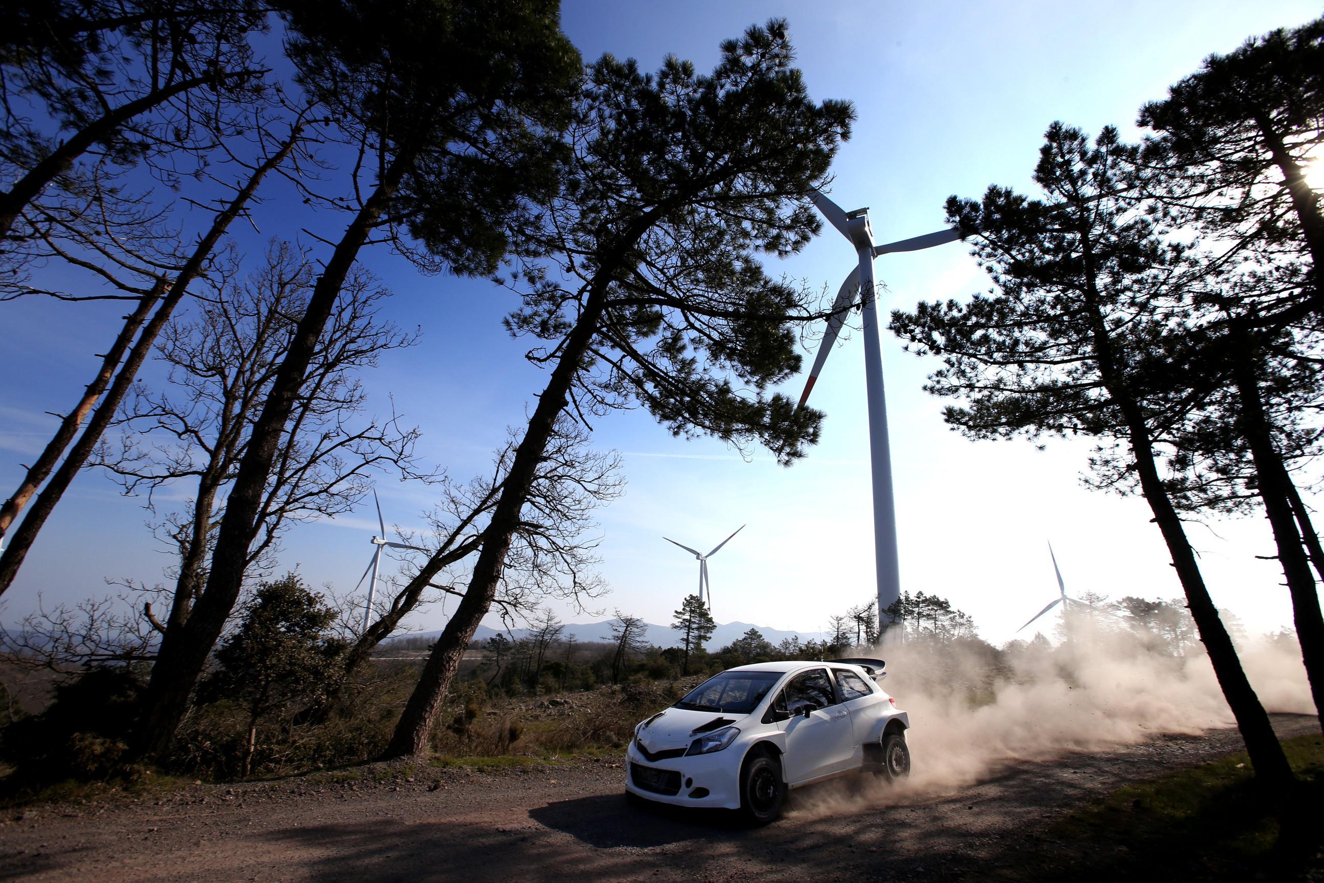 Toyota testing WRC Yaris