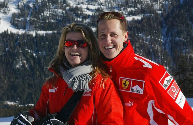 Michael Schumacher and wife, Corinne