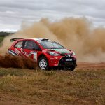 Poulter wins first stage on 25th Sasol Rally
