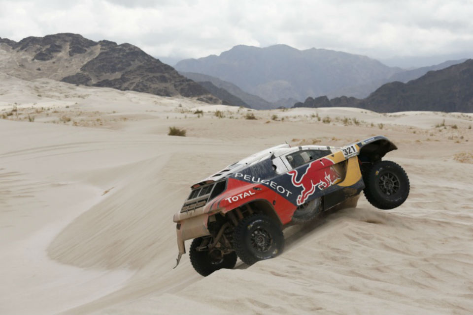 Peugeot and sand