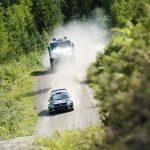 Kamaz and Volkswagen battle on WRC Finland's iconic Ouninpohja stage.