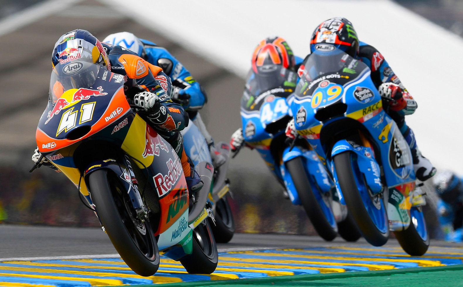 Brad Binder leading the pack