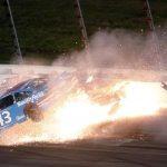 NASCAR's Wonder Woman Car Totaled in Fiery Wreck