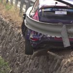 Guardrail Saves Rally Car From a Terrifying Crash
