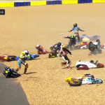 Oil on Track Takes Out Half the Field In Wild Le Mans MotoGP Crash