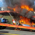 Breaking news: EXPENSIVE AND IRREPLACEABLE RACE CARS DAMAGED IN FIRE WHILE IN TRANSIT