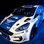 Valtteri Bottas shows off his Arctic Rally M-Sport Fiesta