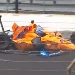 Alonso uninjured after crash during Indy 500 practice