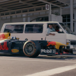 F1 driver David Coulthard takes on a Taxi