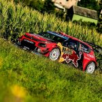REIGNING WORLD CHAMPION SÉBASTIEN OGIER EDGED CHAMPIONSHIP LEADER OTT TÄNAK TO WIN A SUN-KISSED SHAKEDOWN AT ADAC RALLYE DEUTSCHLAND ON THURSDAY MORNING.