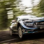 HOME HERO ELFYN EVANS SET A STUNNING PACE TO WIN SATURDAY MORNING'S OPENING SPEED TEST AT WALES RALLY GB.