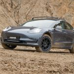 An off-road capablle Tesla Model 3