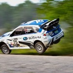 Higgins pilots Subaru WRX STI at LSPR to an extra soggy and muddy win