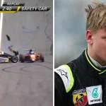Son of F1 legend Michael Schumacher breaks hand during nasty racing crash