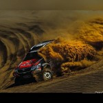 Loeb suffers mechanical problems on SS1 of Rally of Morocco