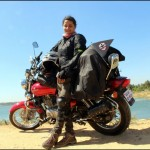 Esha Gupta attempts the Guinness World Record for longest two-wheeler journey by a female biker