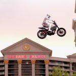 Travis Pastrana lands three Evel Knievel jumps