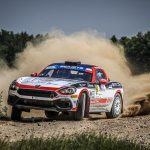 The Italian Andrea Nucita and the Romanian Alina Pop win the third stage of the Abarth Rally Cup, the 76th Rally Poland, valid for the European Championship ERC