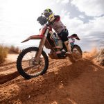 Sara Price and Skyler Howes up front at Sonora Rally
